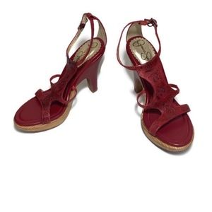 Jessica Simpson Red T Strap Sandals Size 6.5M